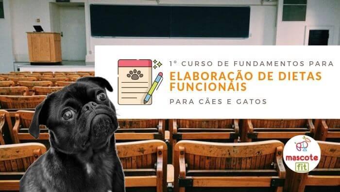 Vem aí o 1º Curso de Fundamentos para Elaboração de Dietas Funcionais para cães e gatos!