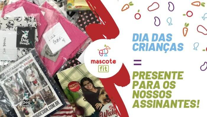Dia das crianças pet! Assinantes da Mascote Fit ganham presente da Dog&Design + Pathas!